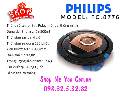 ROBOT HUT BỤI PHILIPS FC 8776
